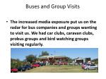 buses and group v isits