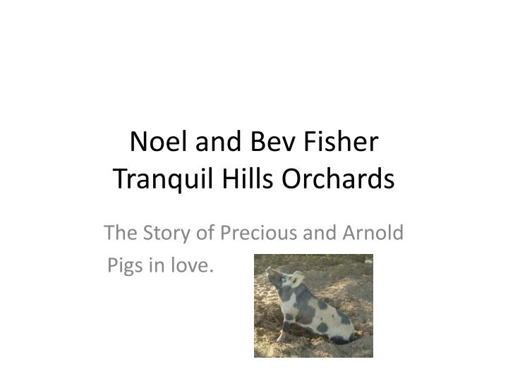 noel and bev fisher tranquil hills orchards n.