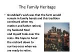 the family heritage