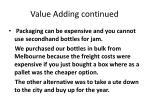 value adding continued1