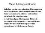 value adding continued2
