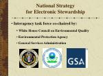national strategy for electronic stewardship