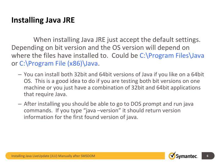 Installing Java JRE