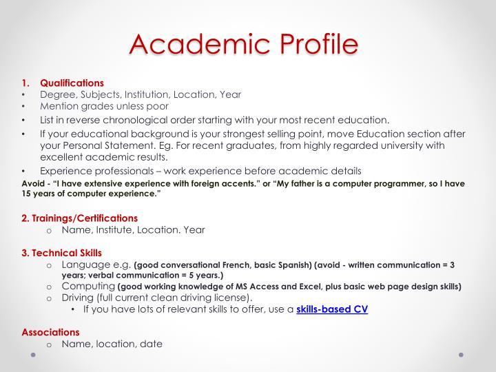 Academic Profile