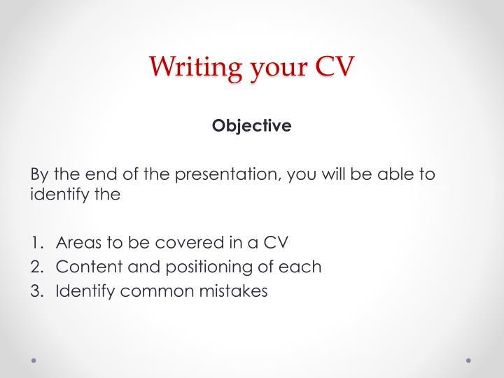 Writing your cv