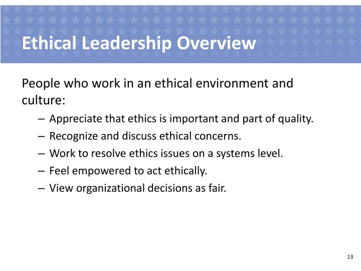 Ethical Leadership Overview