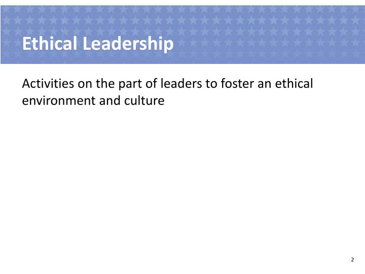 Ethical leadership1