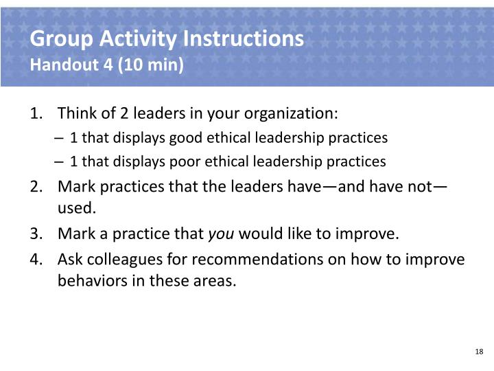 Group Activity Instructions