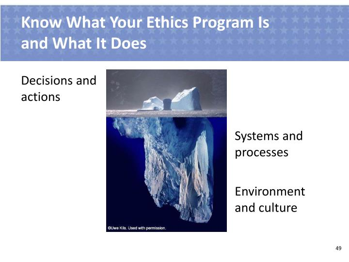 Know What Your Ethics Program Is