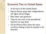 economic ties to united states