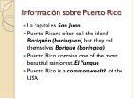 informaci n sobre puerto rico