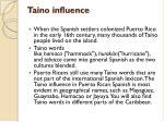 taino influence