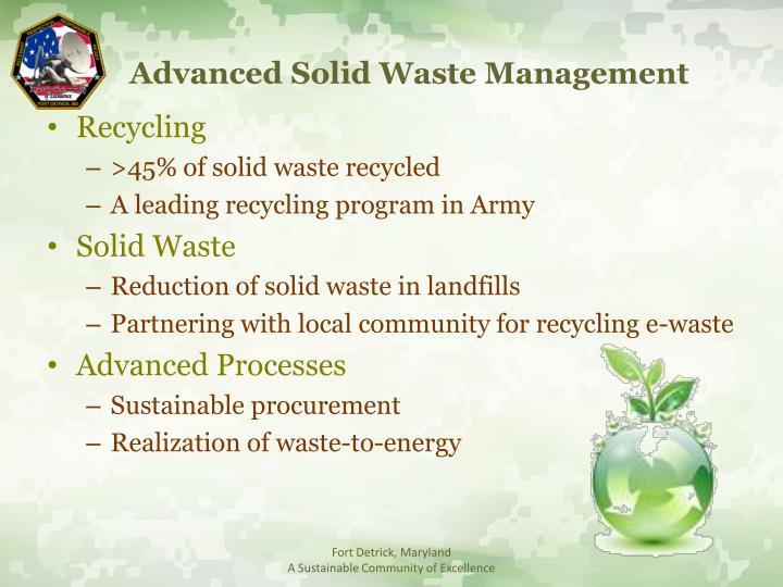 Advanced Solid Waste Management