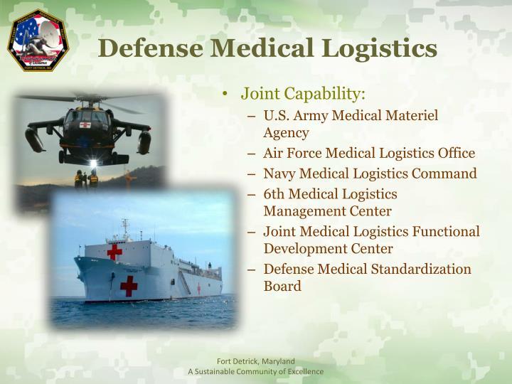 Defense Medical Logistics