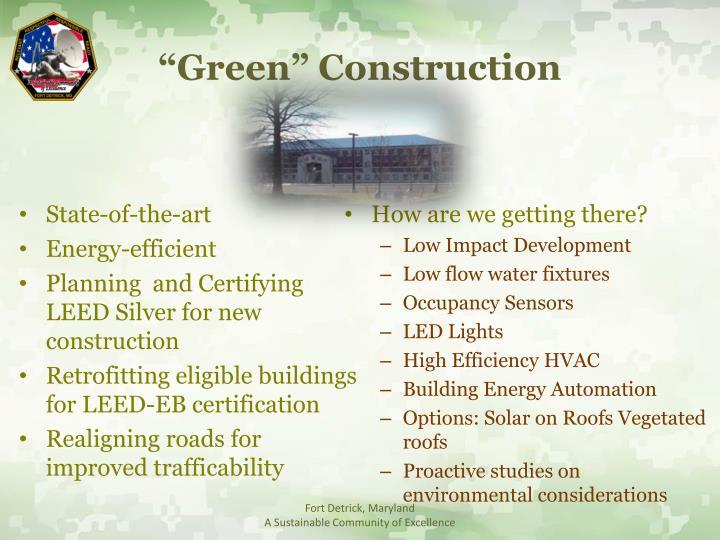 """Green"" Construction"