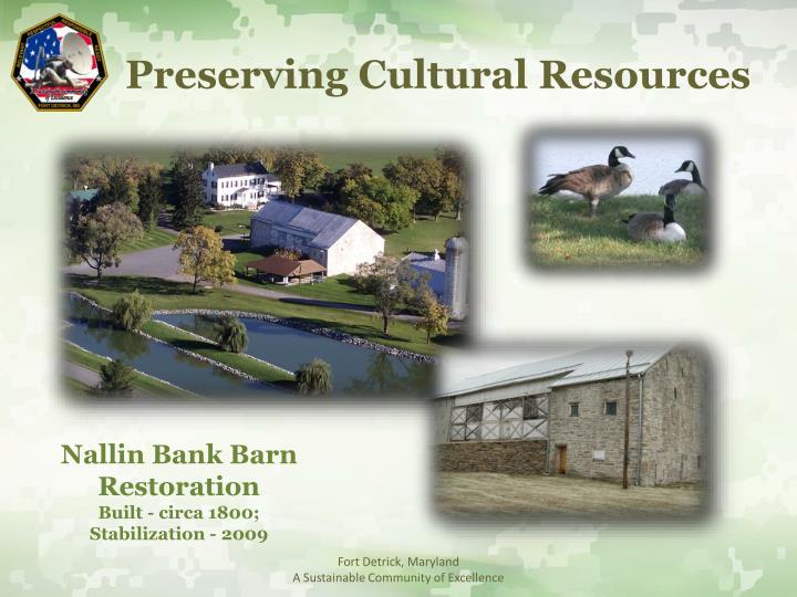 Preserving Cultural Resources