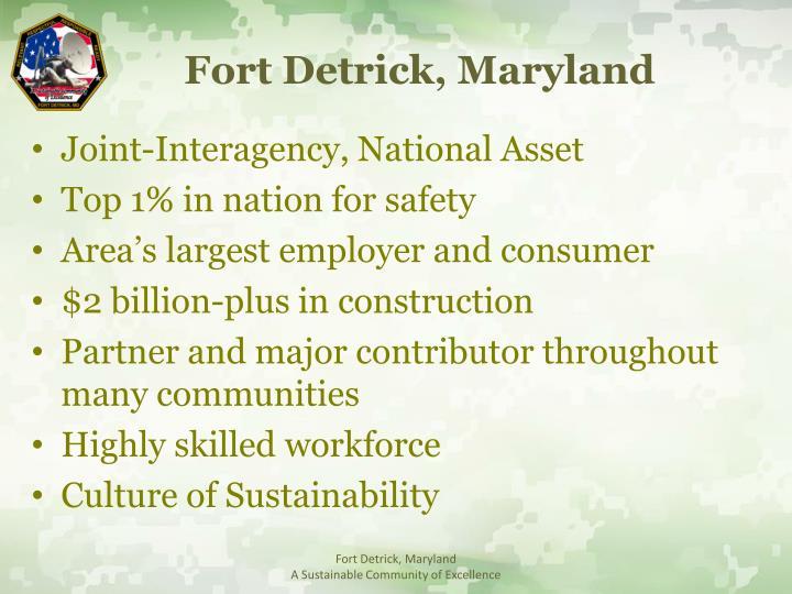 Fort Detrick, Maryland