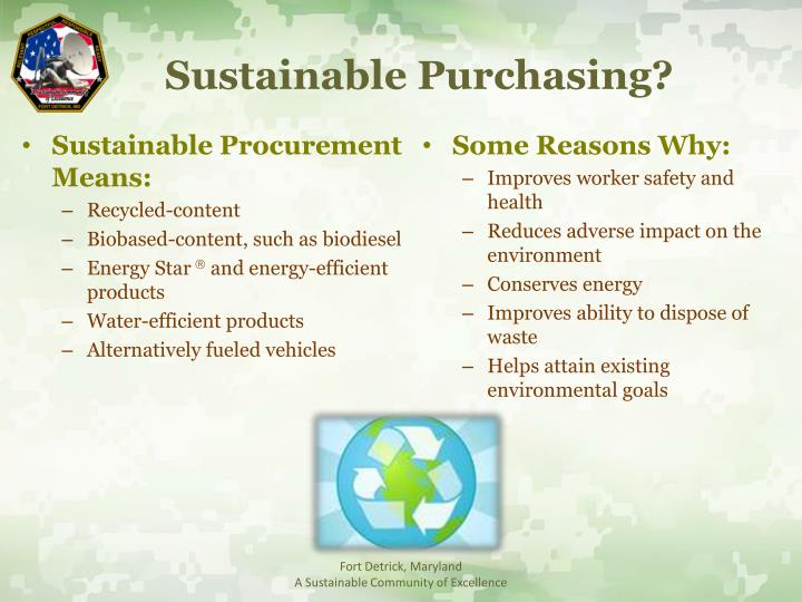 Sustainable Purchasing?