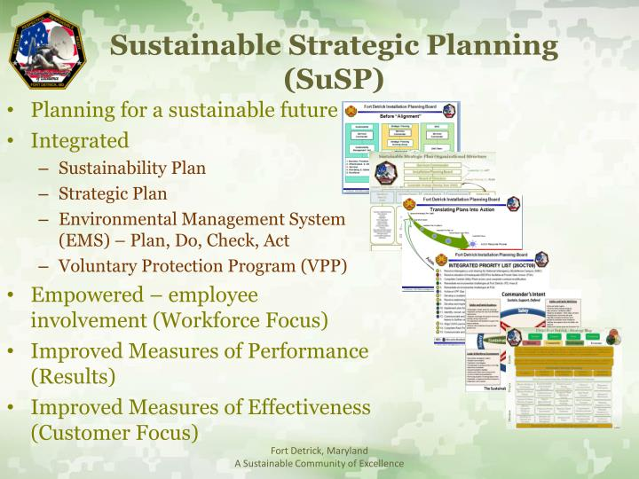 Sustainable Strategic Planning