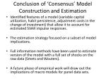 conclusion of consensus model construction and estimation