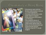 christianity in hong kong