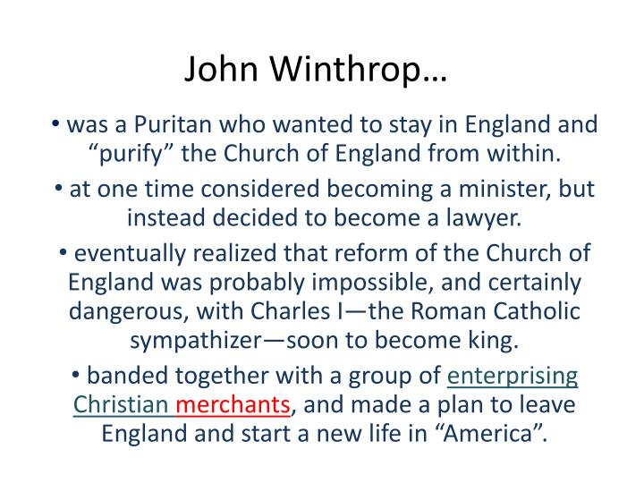 Was A Puritan Who Wanted To Stay In England And Purify The Church Of From Within