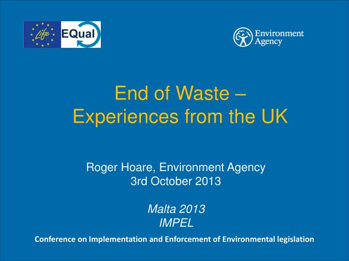 End of Waste –