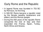 early rome and the republic