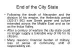 end of the city state