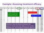 example assessing treatment e fficacy