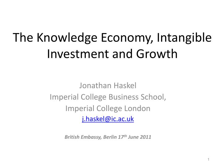 the knowledge economy intangible investment and growth