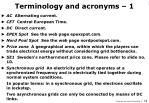 terminology and acronyms 1