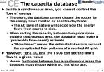 the capacity database