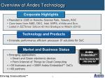 overview of andes technology