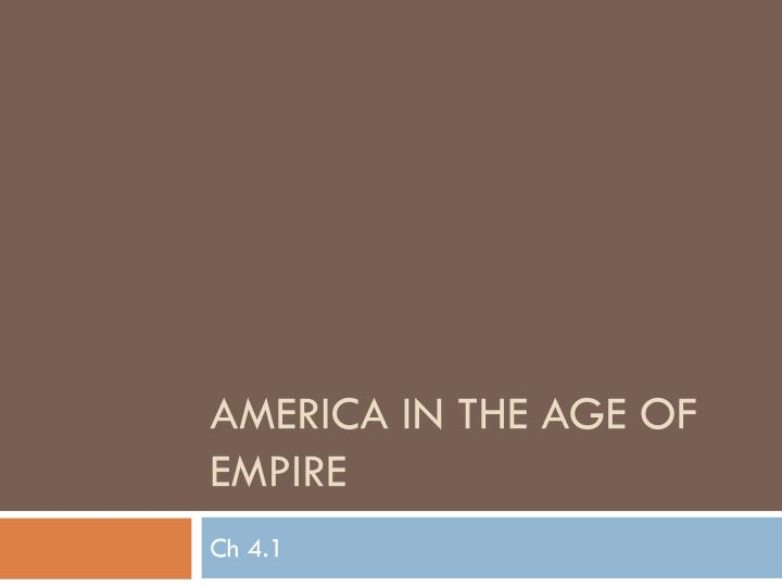 america in the age of empire n.