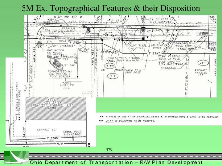 5M Ex. Topographical Features & their Disposition