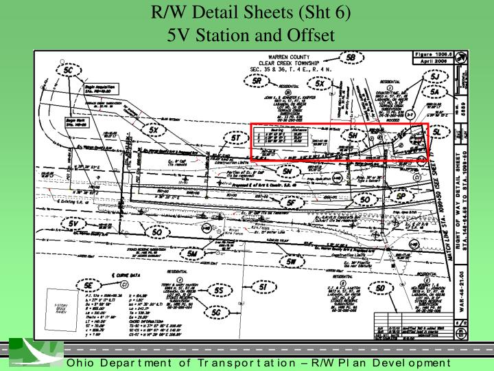 R/W Detail Sheets (Sht 6)