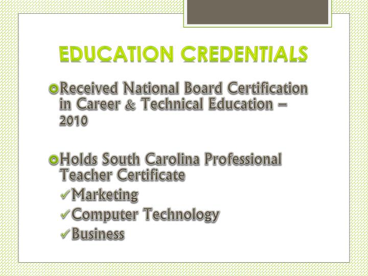 Education Credentials