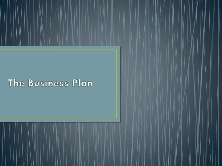 the business plan n.