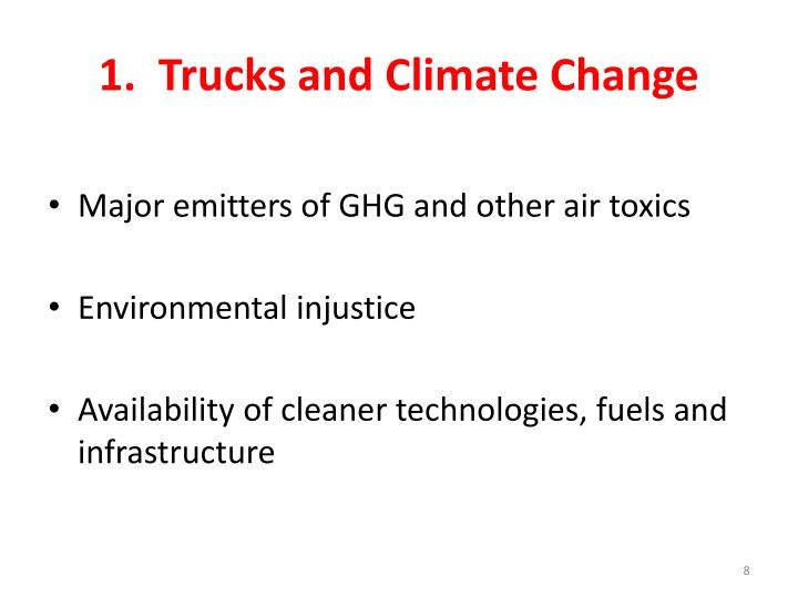 1.  Trucks and Climate Change