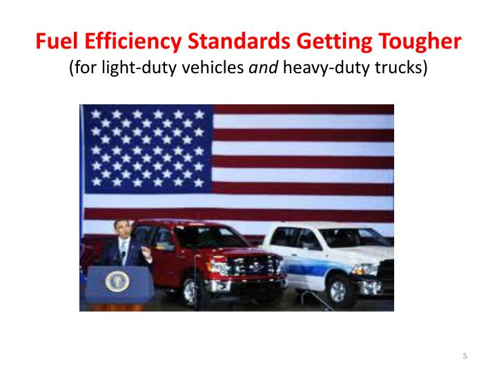 Fuel Efficiency Standards Getting Tougher