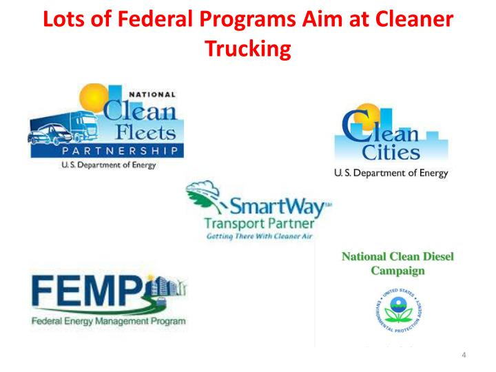 Lots of Federal Programs Aim at Cleaner Trucking