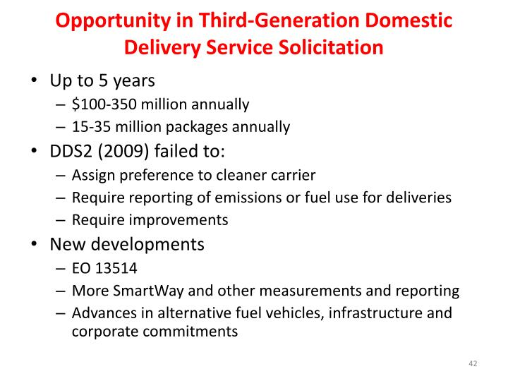 Opportunity in Third-Generation Domestic