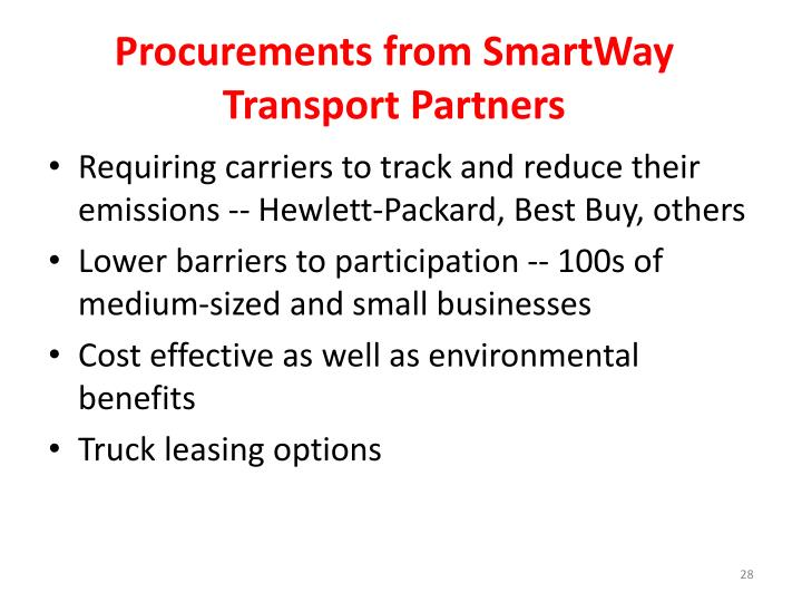 Procurements from