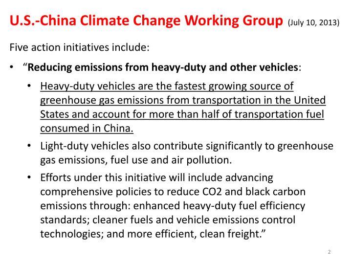 U.S.-China Climate Change Working Group