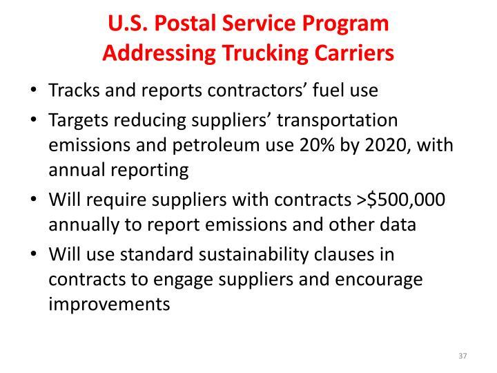 U.S. Postal Service Program