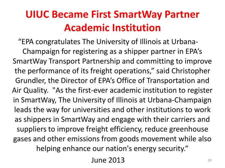 UIUC Became First