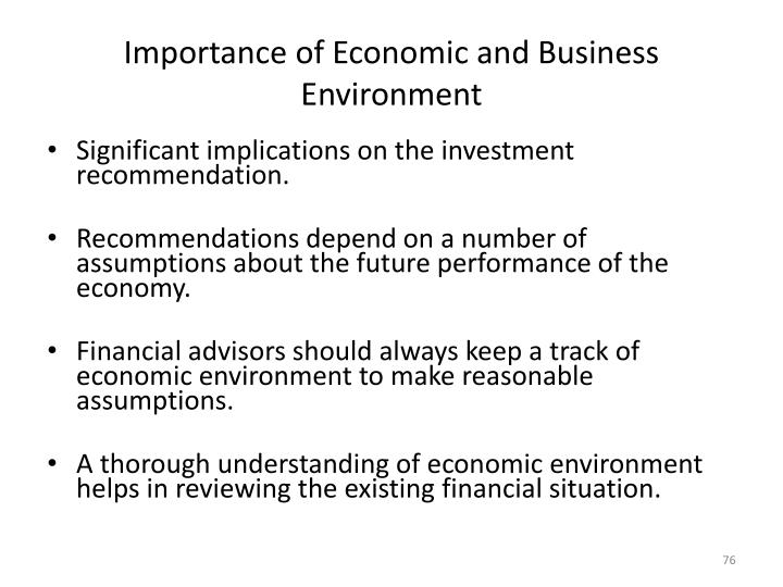 Importance of Economic and Business Environment