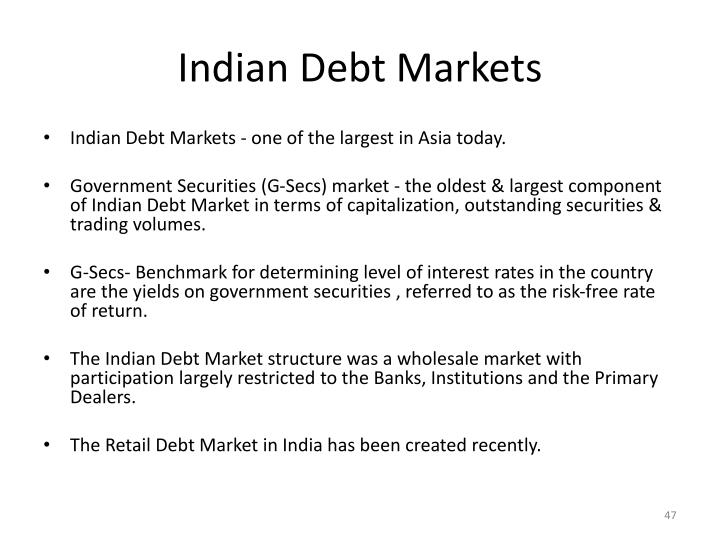 Indian Debt Markets
