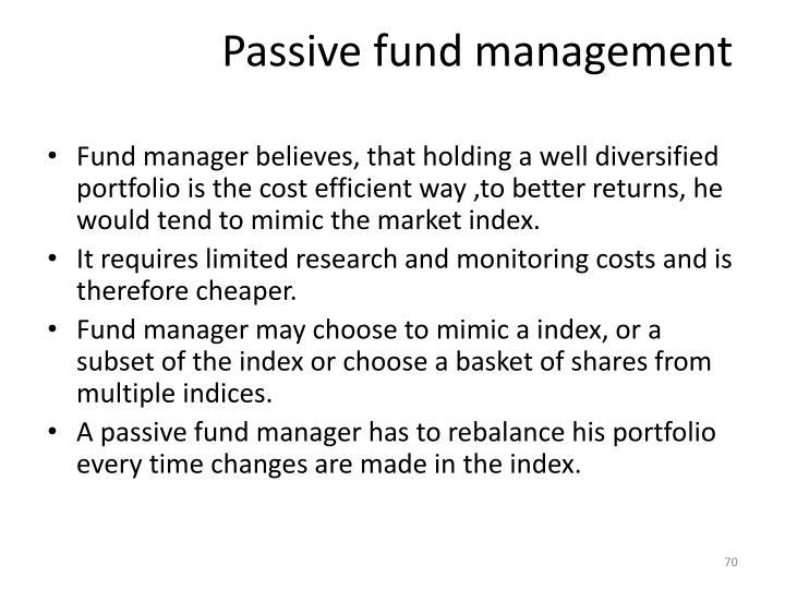 Passive fund management